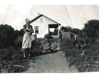 Lena Ritter's great aunt on her mother's side at the Permuda Island Farm House in the 1930s